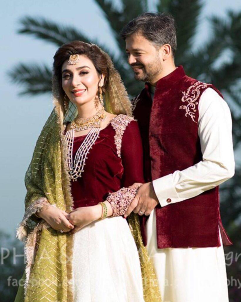 Former actress Aisha Khan & Maj Uqbah blessed with a baby girl