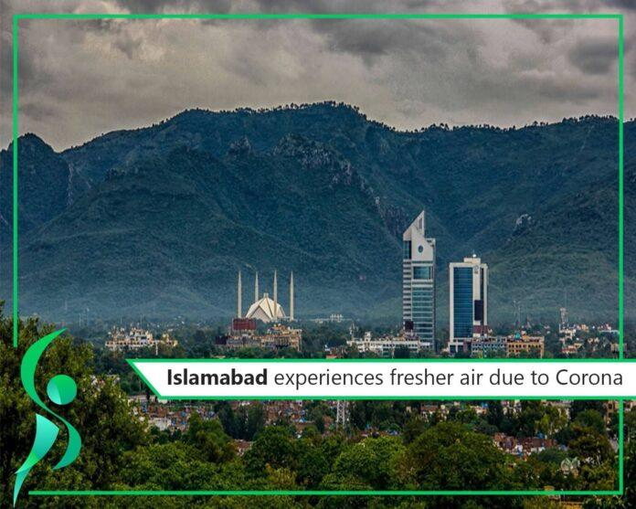 Virtual lockdown in Islamabad shows a drastic decline in air pollution