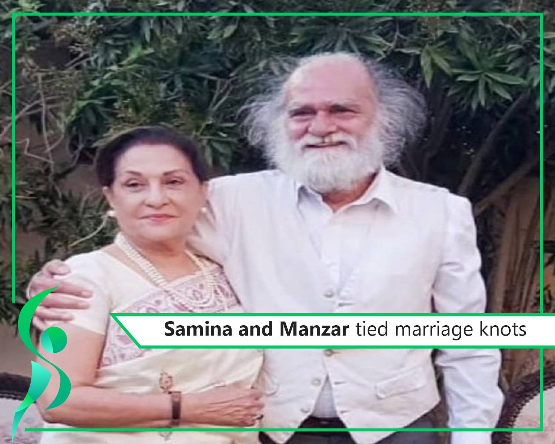 Veteran actors Samina and Manzar tied the knot