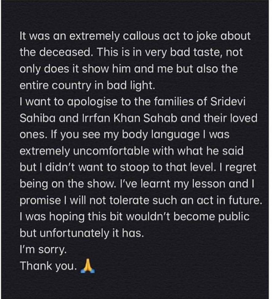 Adnan Siddiqui calls out Amir Liaquat over his insensitive statements on the demise of Sridevi and Irrfan Khan.