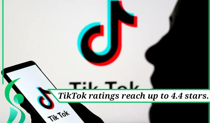 TikTok ratings reach upto 4.4 stars.