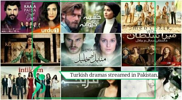 Turkish dramas streamed in Pakistan.n