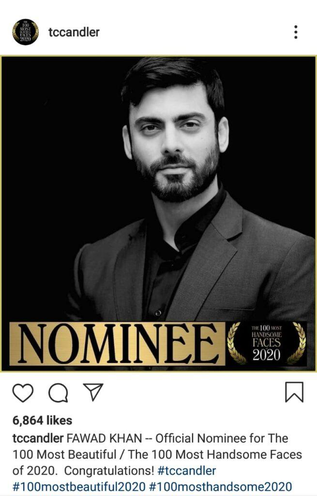 Fawad Khan as the offical nominee.