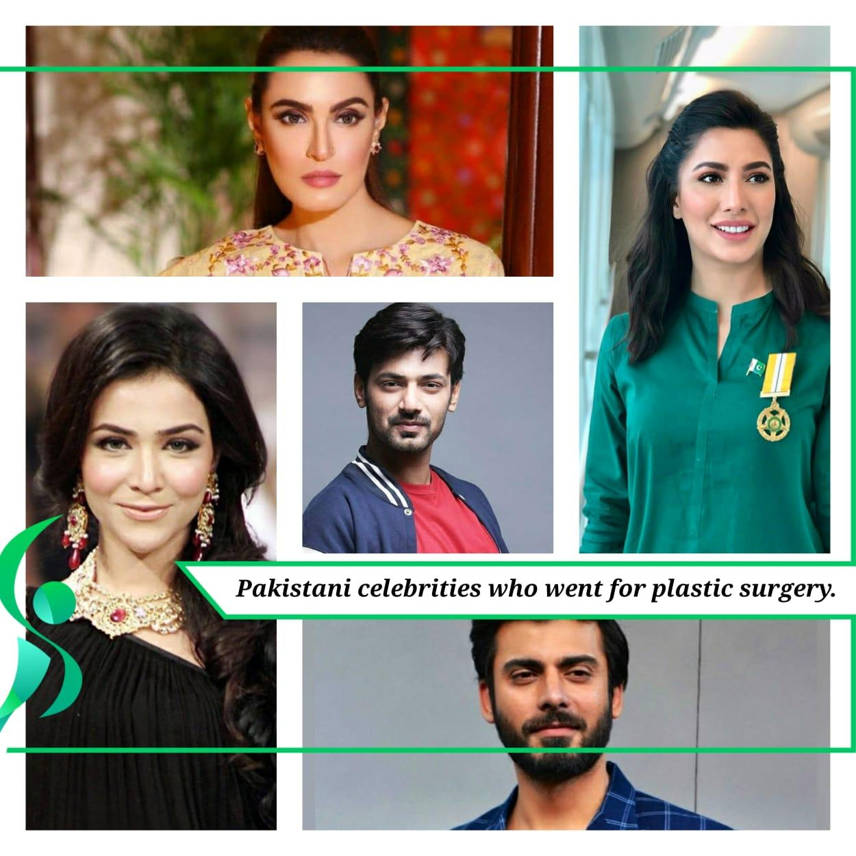 Pakistani Celebrities who went for plastic surgery.