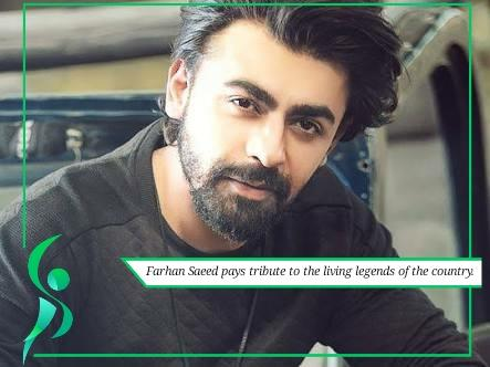 Farhan saeed pays tribute to legends of the country.