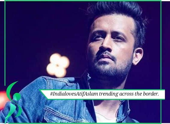 Atif Aslam trending in India.