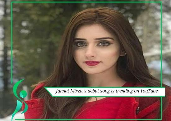Jannat Mirza's debut song is trending on YouTube.