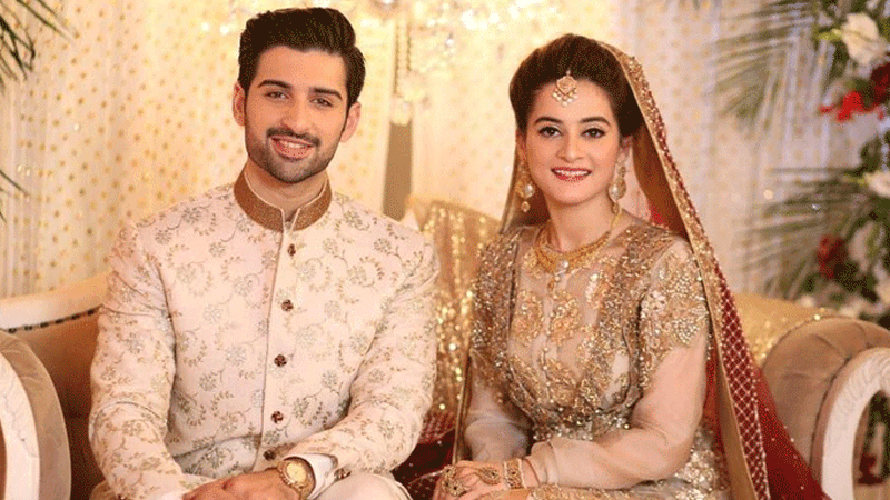 Aiman and Muneeb on their nikkah ceremony