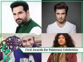 Civil awards for Pakistani celebrities