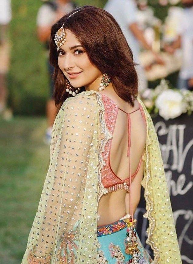Hania amir's backless
