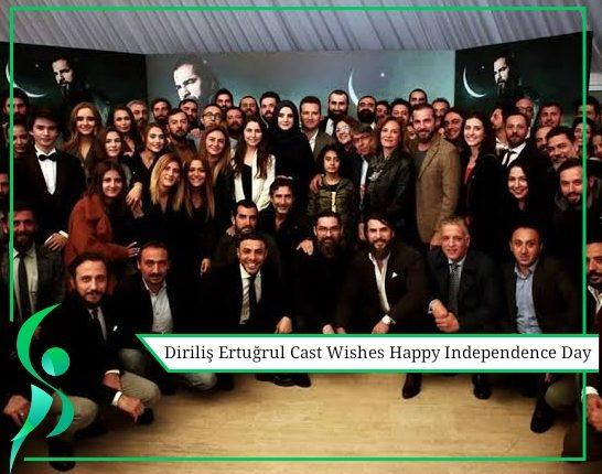 Ertugrul cast wishes happy independence day