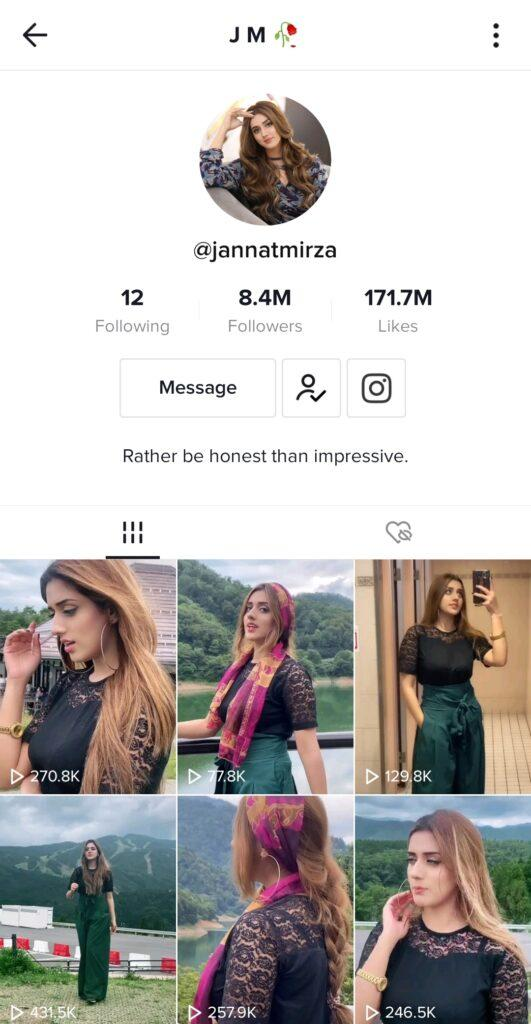 TikTok star Jannat Mirza Signing Off