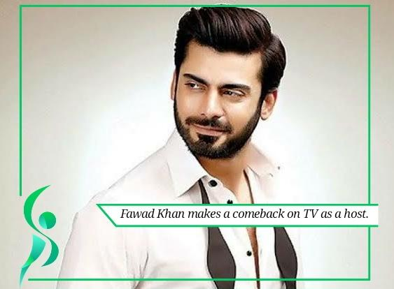 Fawad Khan marks his comeback on a gameshow.