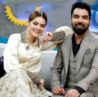 Yasir Hussain and Minal Khan starring together