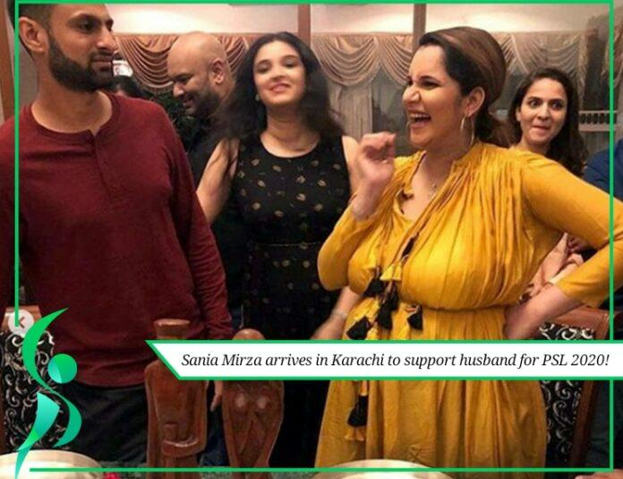 sania mirza arrives in karachi