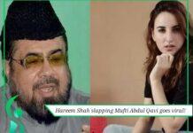 hareem shah slapping mufti abdul qavi goes viral