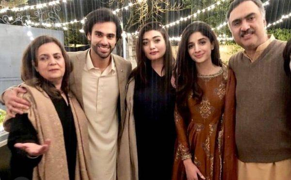Ameer Gilani and Mawra with family
