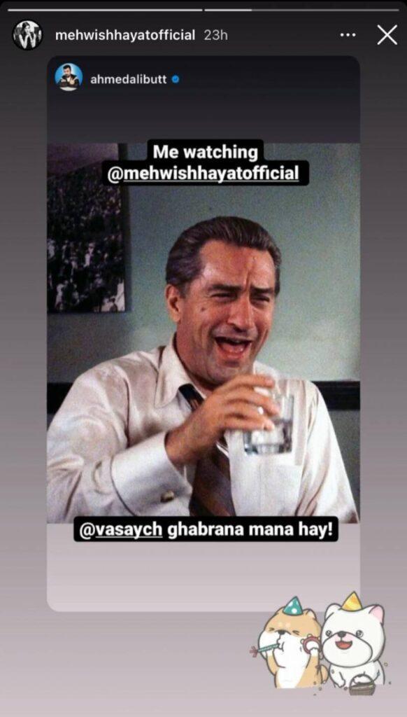 Mehwish Hayat schools Vasay Chaudhary on body shaming